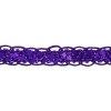 Sequin 6mm Round Trim Purple Hologram